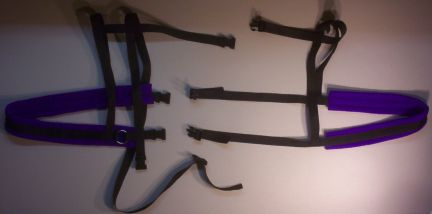 Black Harness w/ Purple Padding